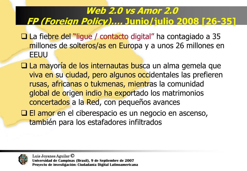 Web 2.0 vs Amor 2.0