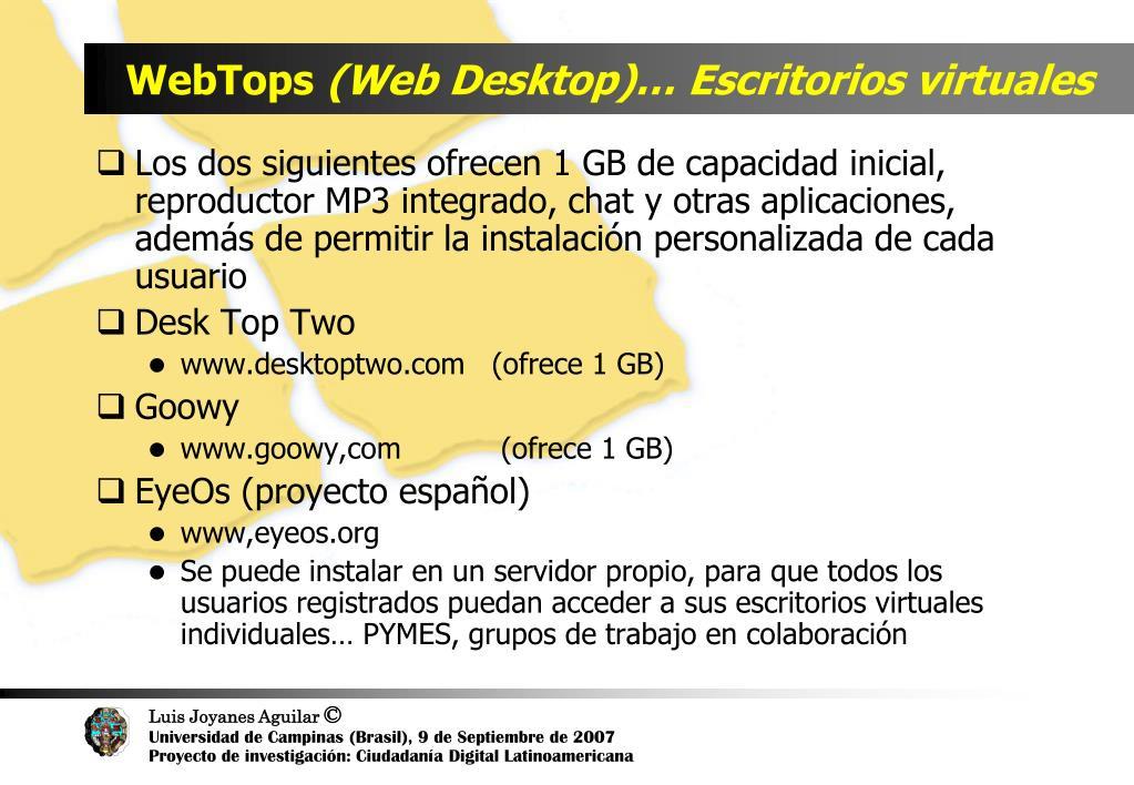 WebTops