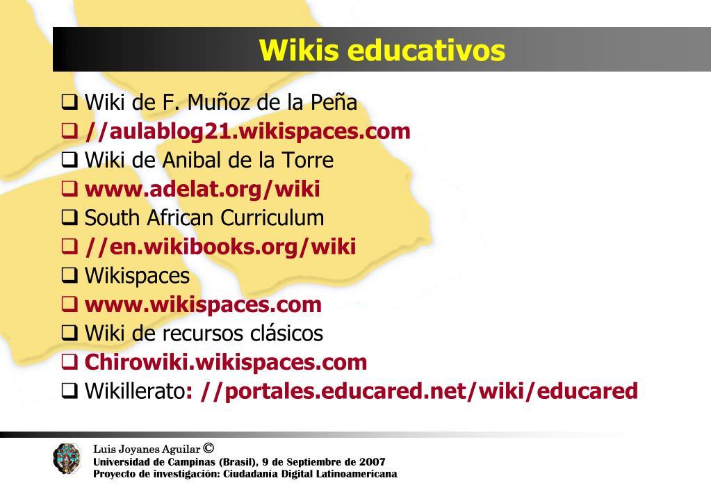 Wikis educativos