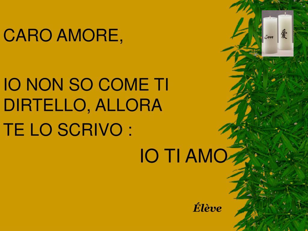 CARO AMORE,
