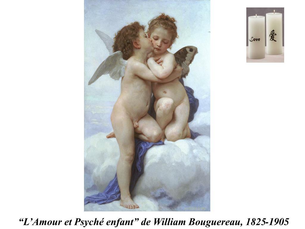 """""""L'Amour et Psyché enfant"""" de William Bouguereau, 1825-1905"""