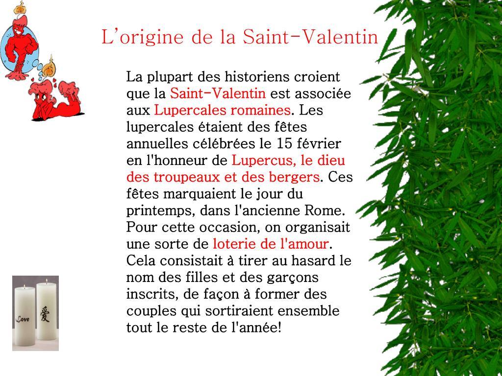 L'origine de la Saint-Valentin