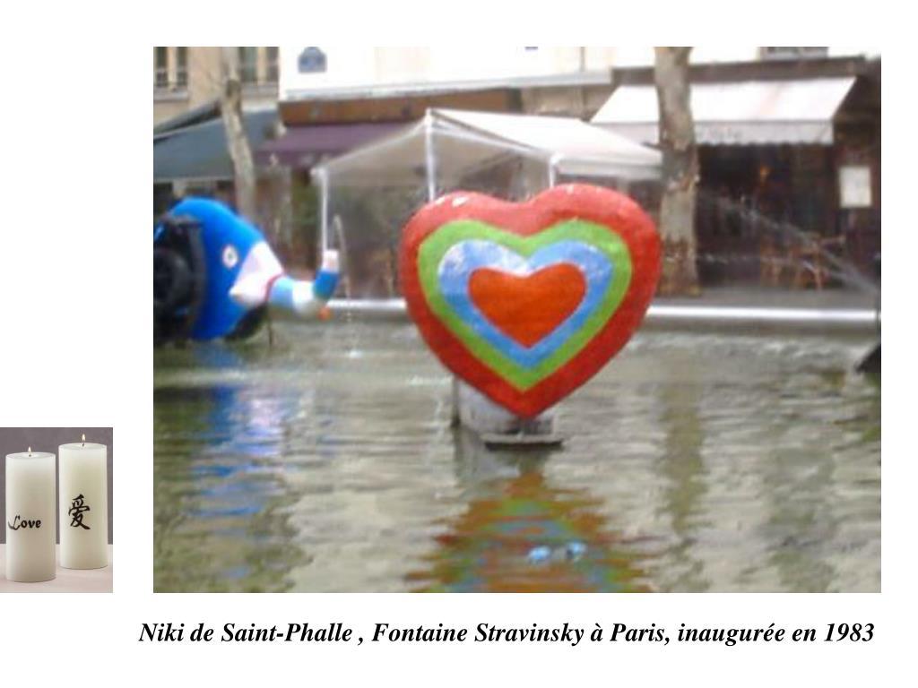 Niki de Saint-Phalle , Fontaine Stravinsky à Paris, inaugurée en 1983