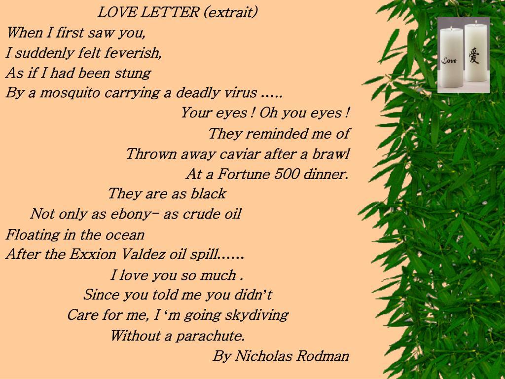 LOVE LETTER (extrait)