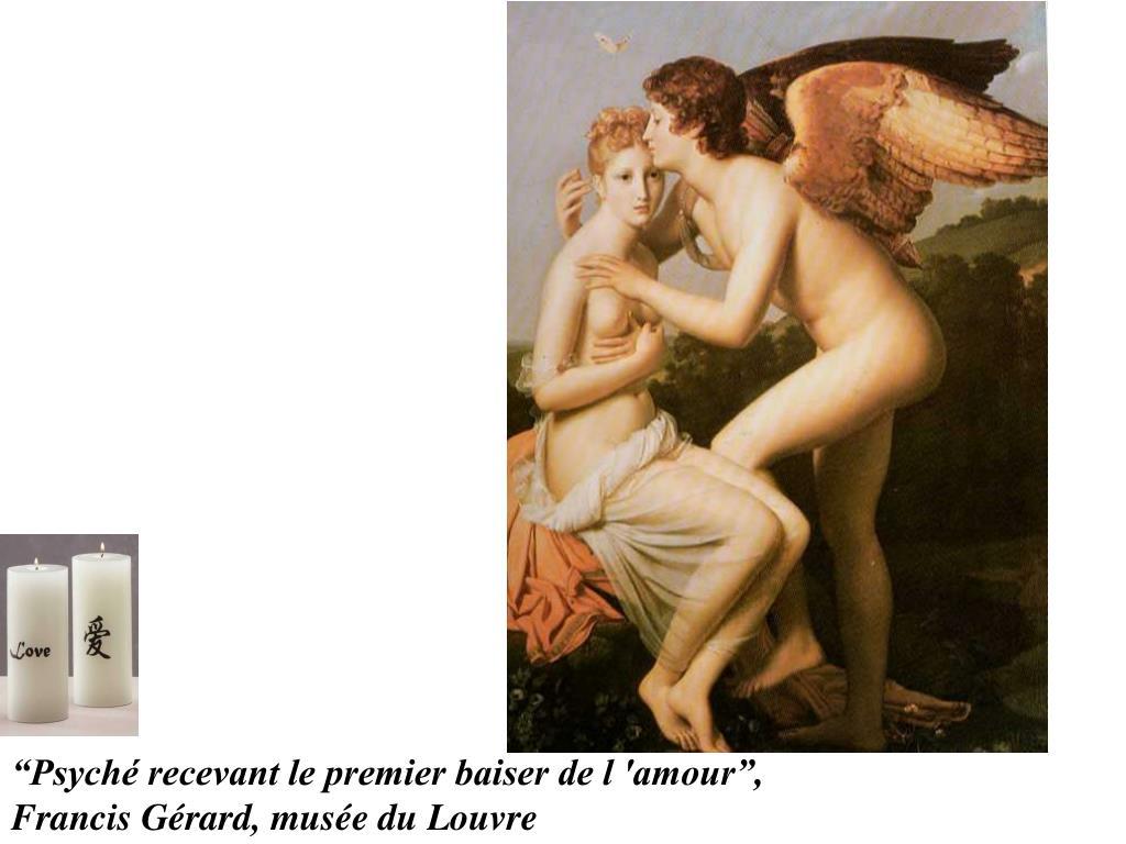 """""""Psyché recevant le premier baiser de l 'amour"""","""