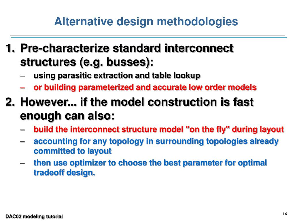 Alternative design methodologies