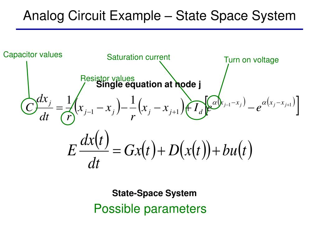 Analog Circuit Example – State Space System
