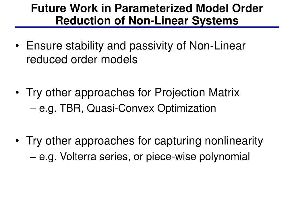 Ensure stability and passivity of Non-Linear reduced order models