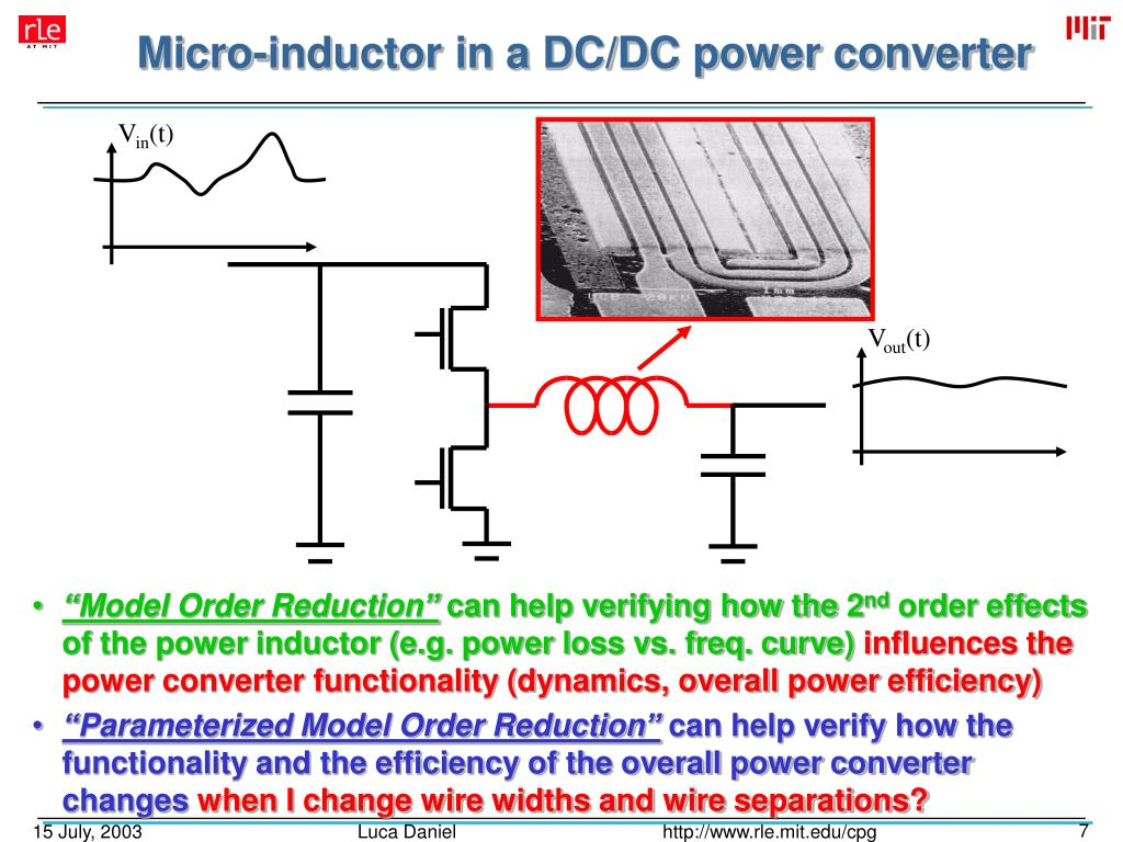Micro-inductor in a DC/DC power converter