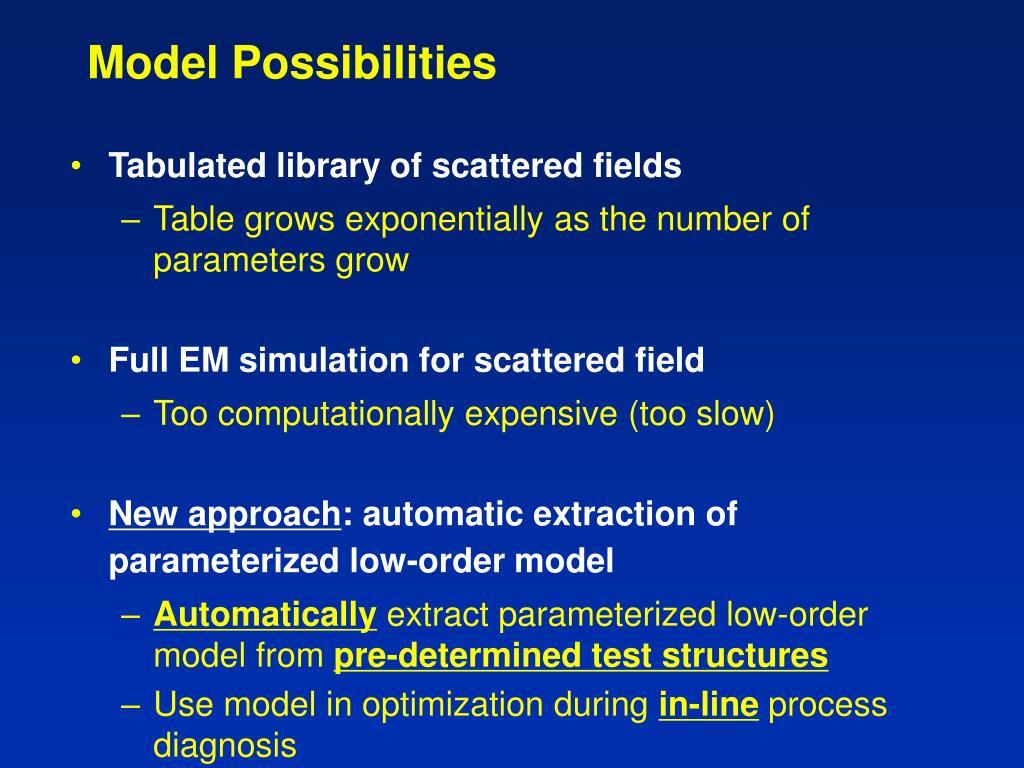 Model Possibilities