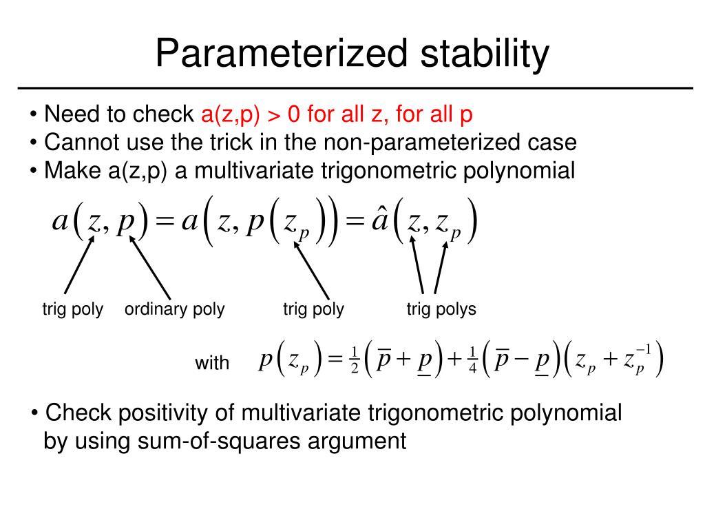 Parameterized stability