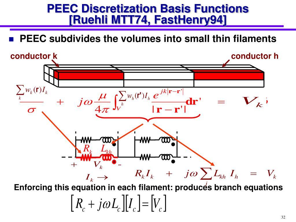 PEEC Discretization Basis Functions