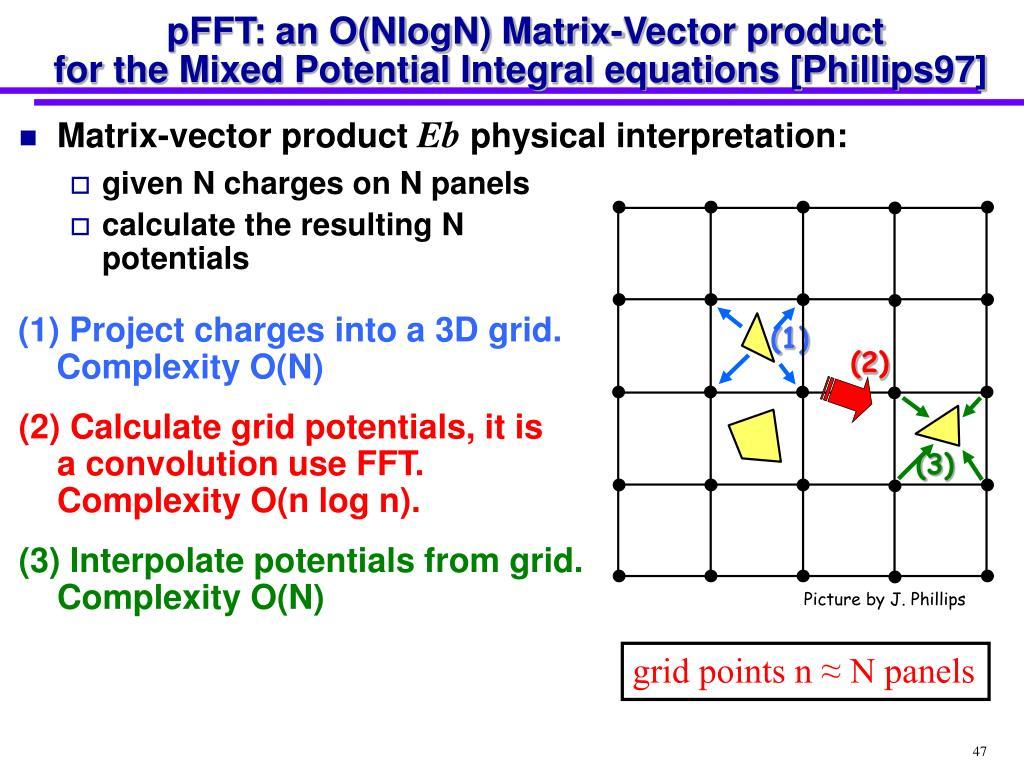 pFFT: an O(NlogN) Matrix-Vector product