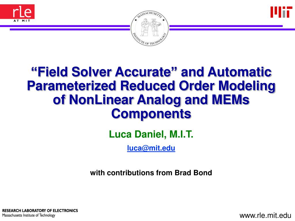 """Field Solver Accurate"" and Automatic"