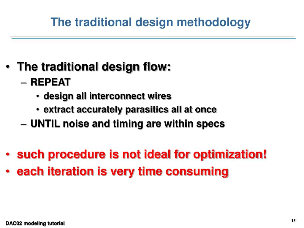 The traditional design methodology