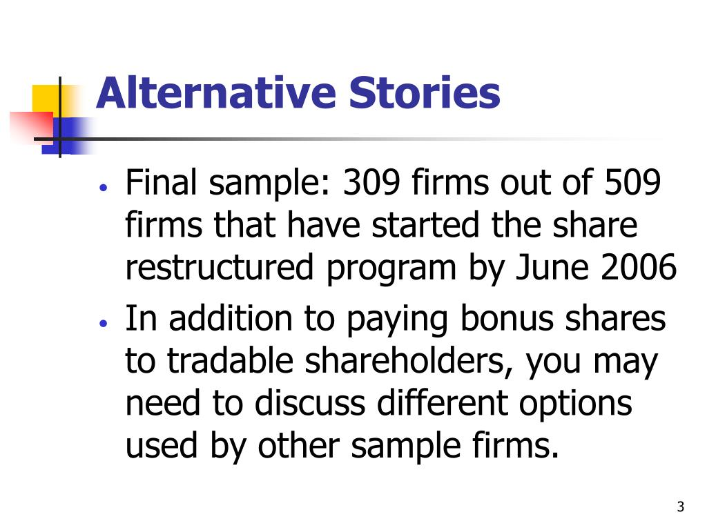 Alternative Stories