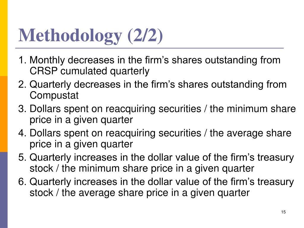Methodology (2/2)