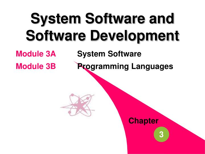 System software and software development