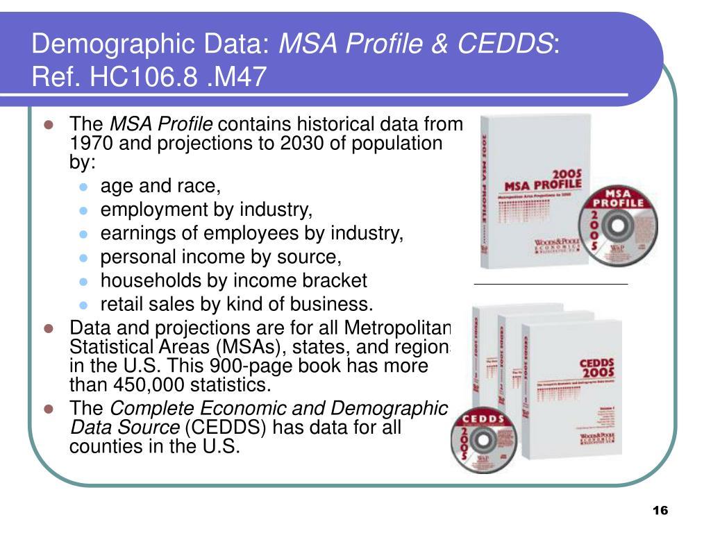 Demographic Data: