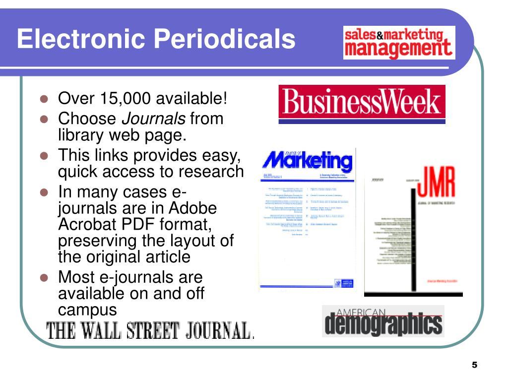 Electronic Periodicals