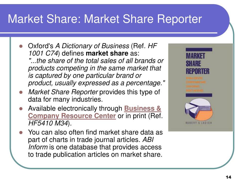Market Share: Market Share Reporter