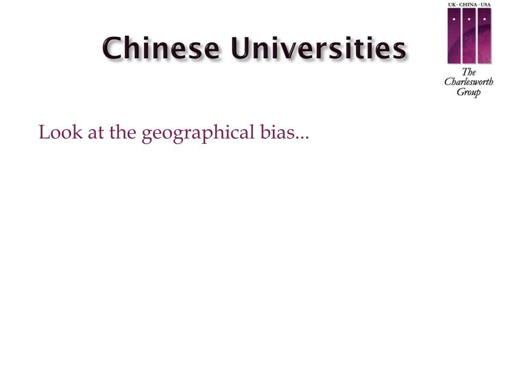Chinese Universities