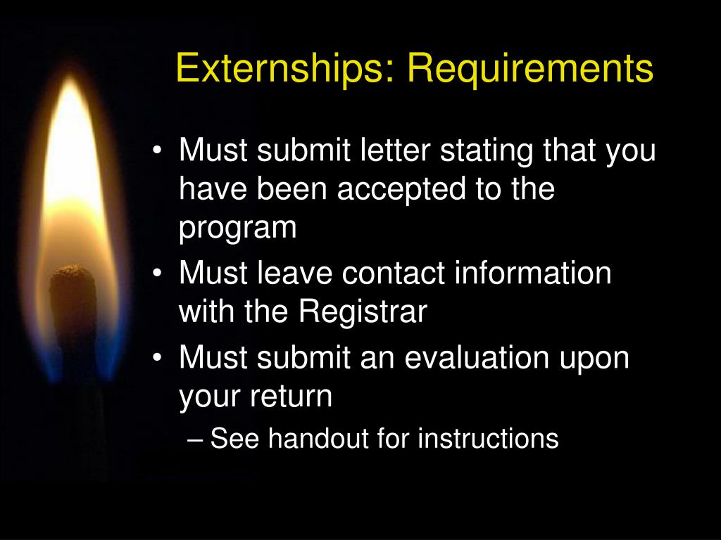 Externships: Requirements
