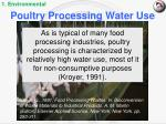 poultry processing water use
