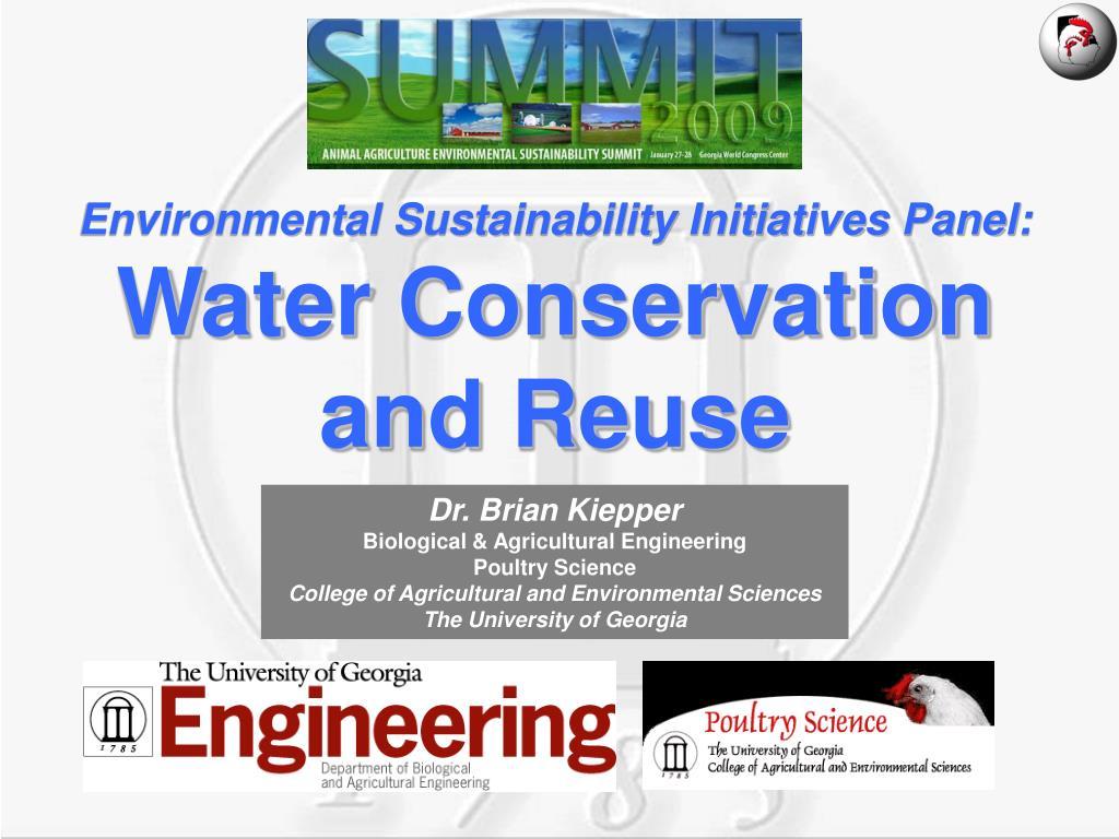 Environmental Sustainability Initiatives Panel:
