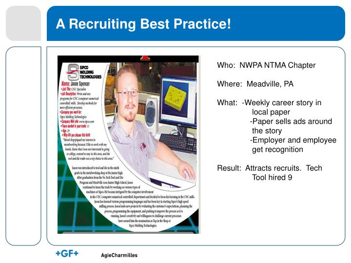 A recruiting best practice