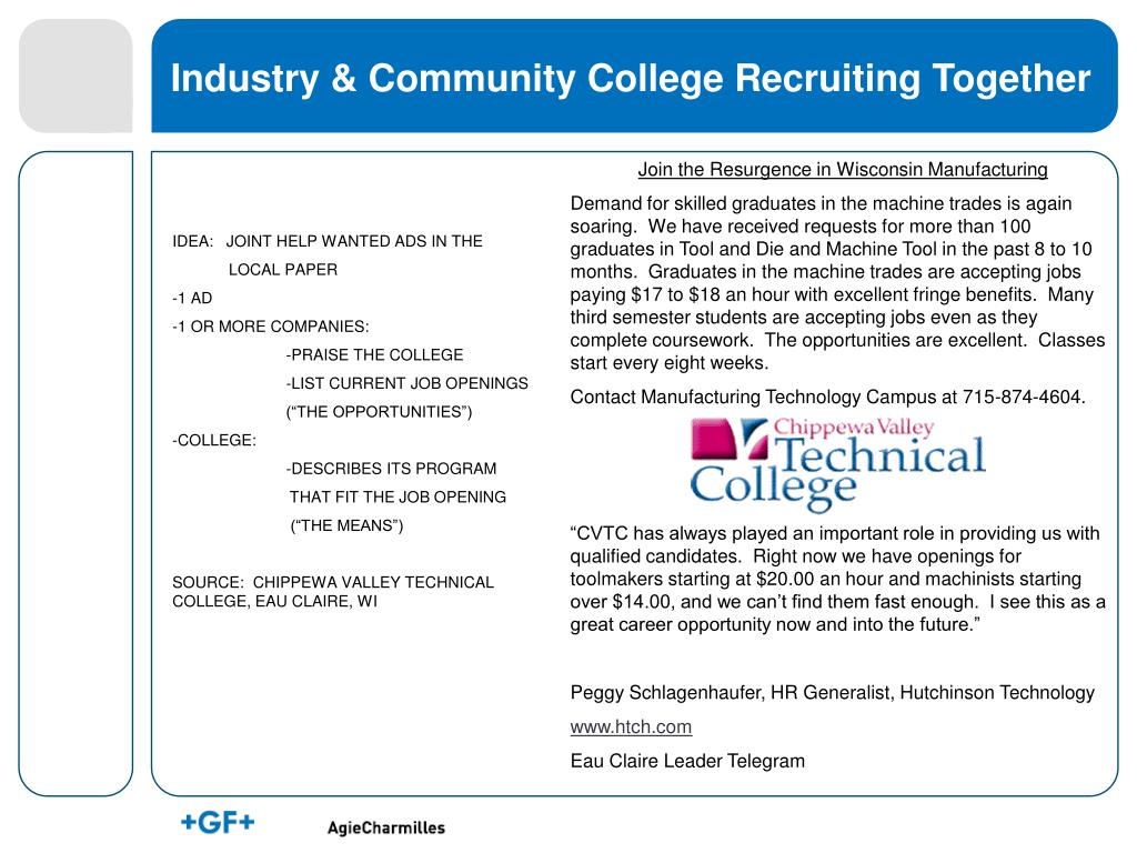 Industry & Community College Recruiting Together