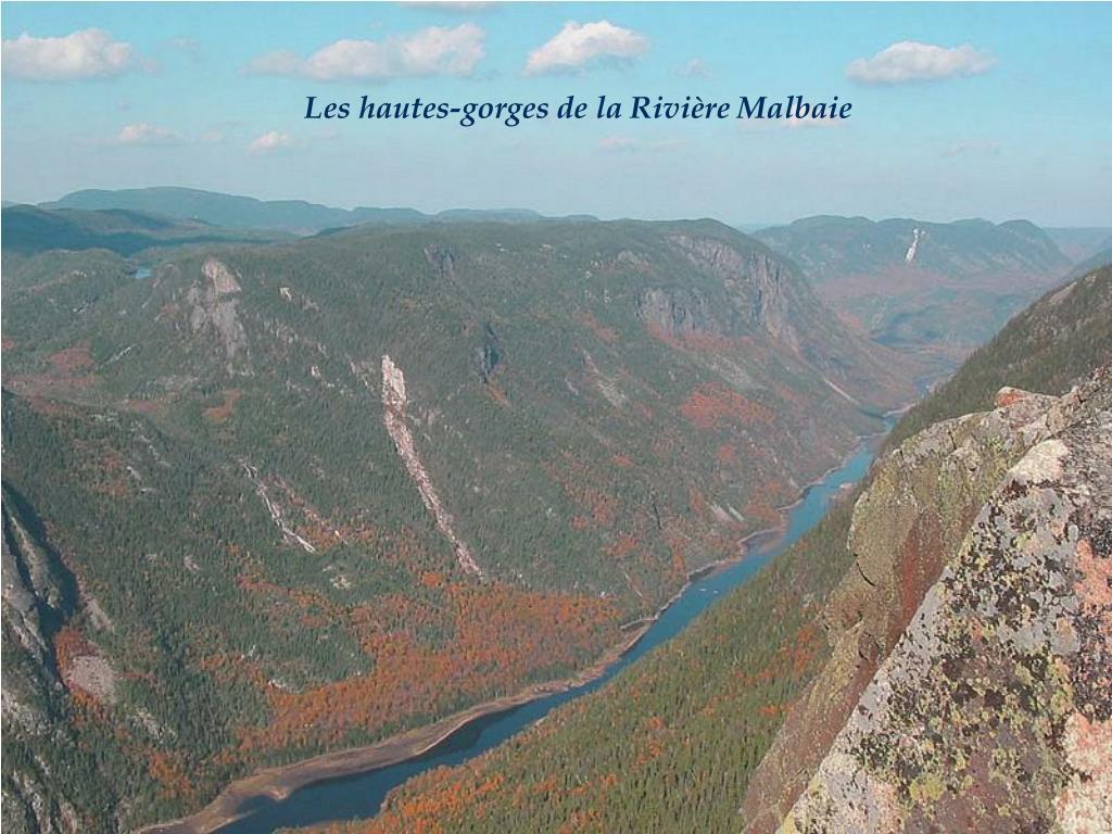 Les hautes-gorges de la Rivière Malbaie