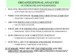 organizational analysis of strengths and weaknesses24