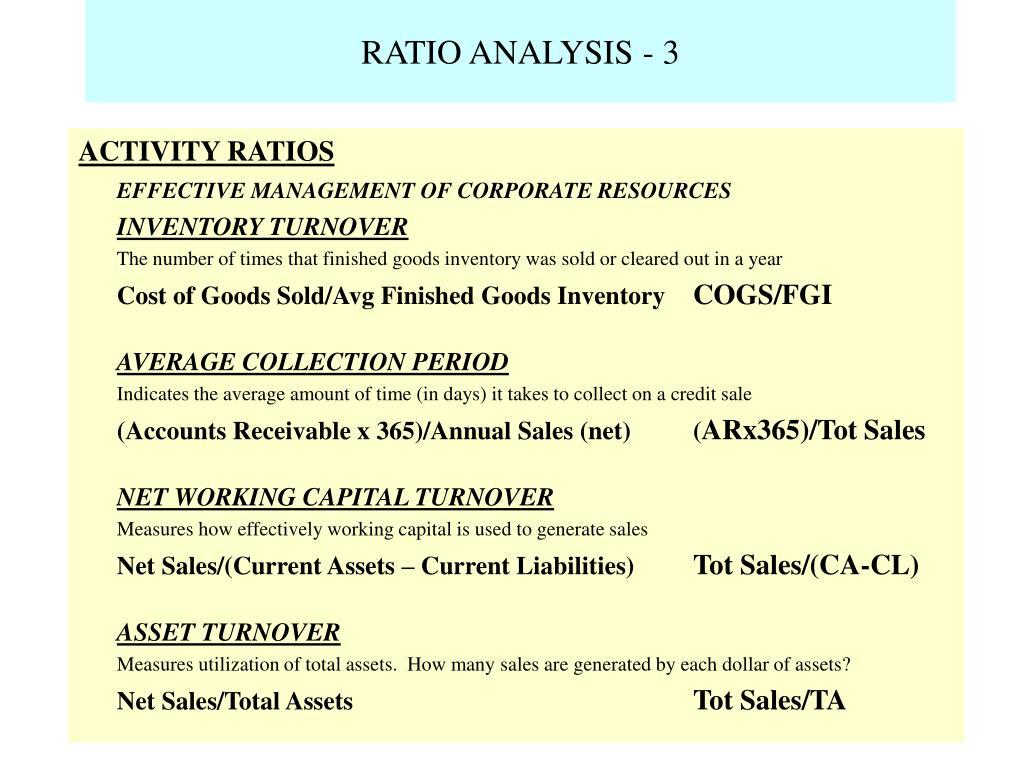 RATIO ANALYSIS - 3