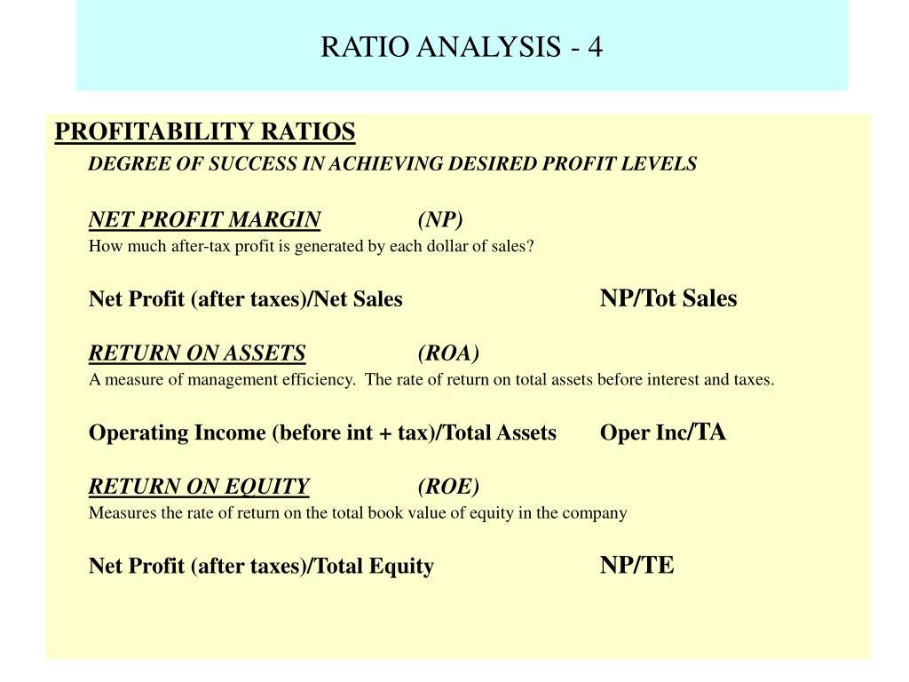 RATIO ANALYSIS - 4