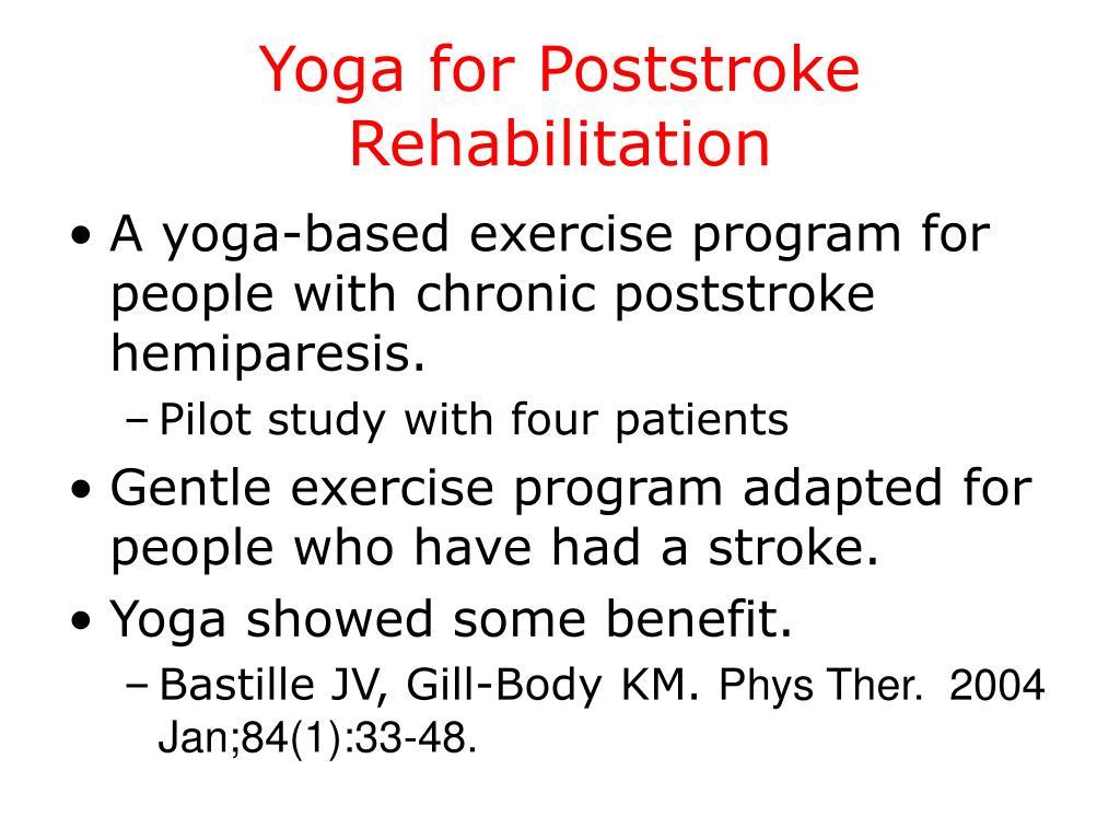 Yoga for Poststroke Rehabilitation