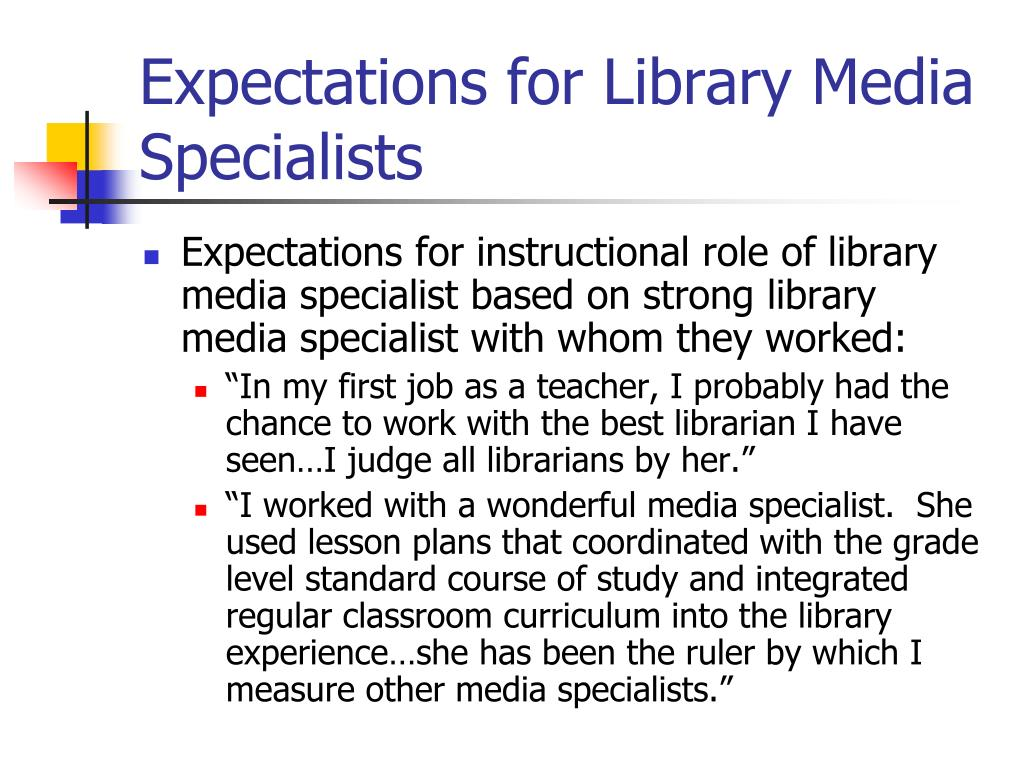 Expectations for Library Media Specialists