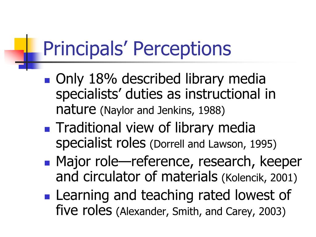 Principals' Perceptions