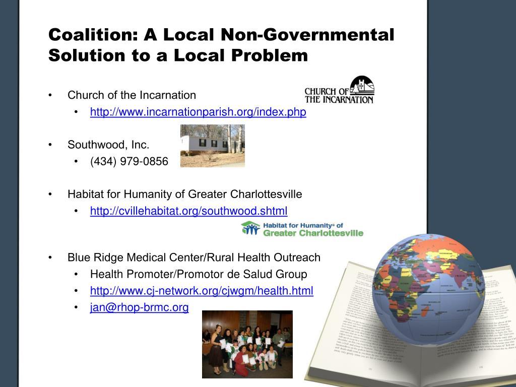Coalition: A Local Non-Governmental Solution to a Local Problem
