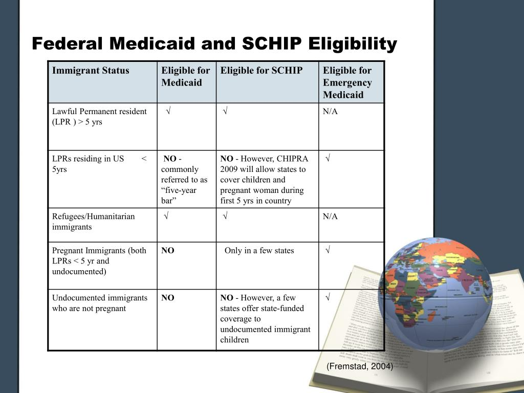 Federal Medicaid and SCHIP Eligibility