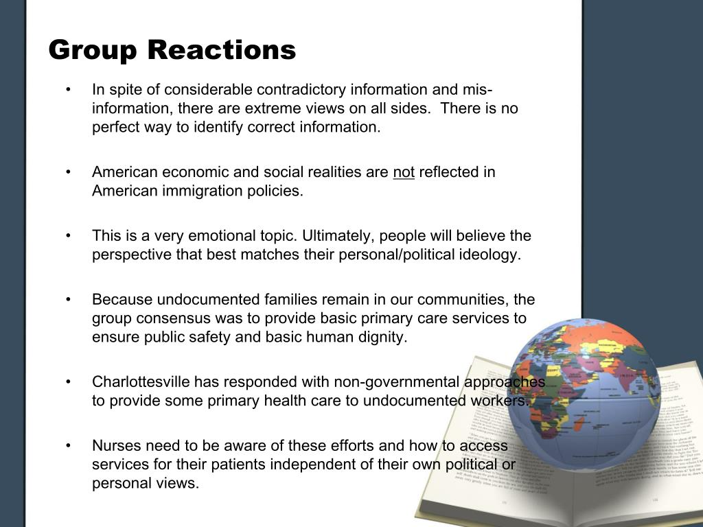 Group Reactions