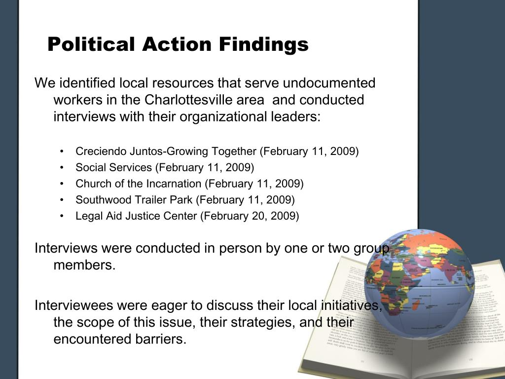 Political Action Findings