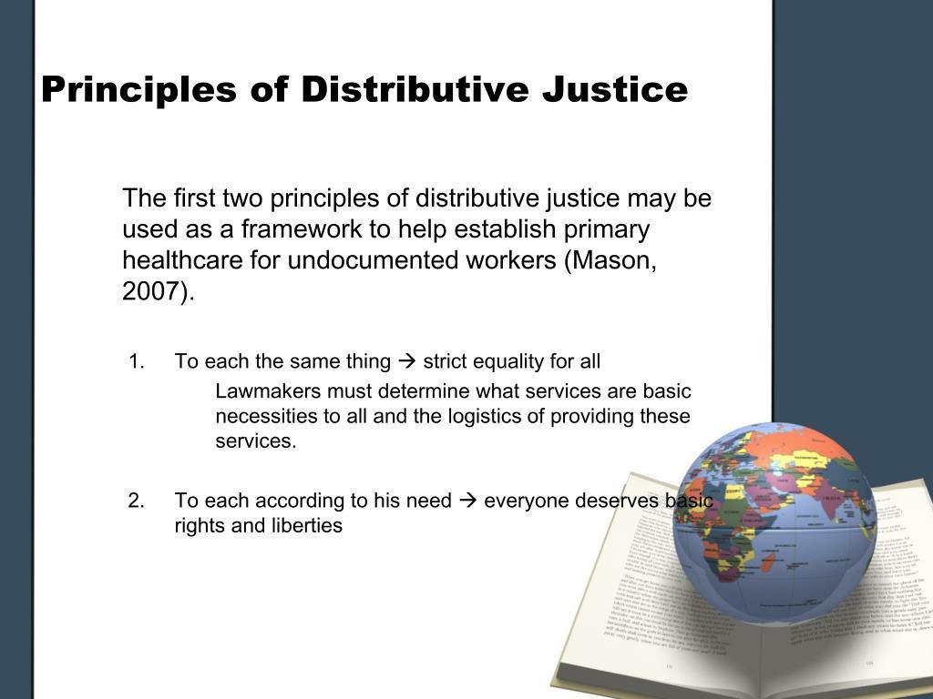Principles of Distributive Justice