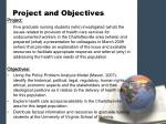 project and objectives