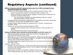 regulatory aspects continued