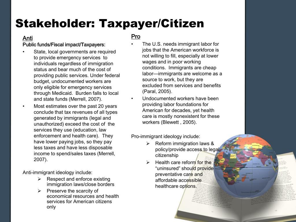 Stakeholder: Taxpayer/Citizen