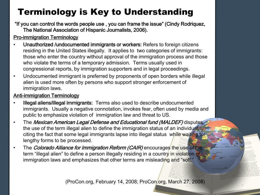 Terminology is Key to Understanding
