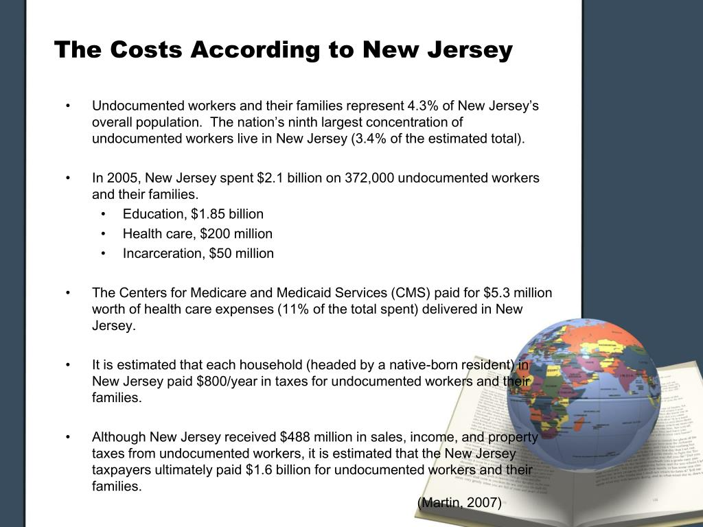 The Costs According to New Jersey