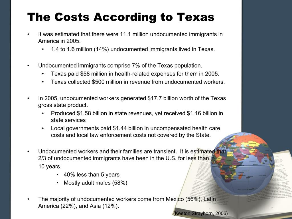 The Costs According to Texas