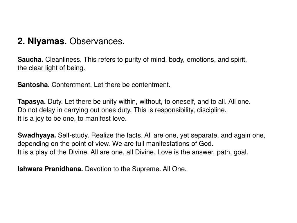 2. Niyamas.